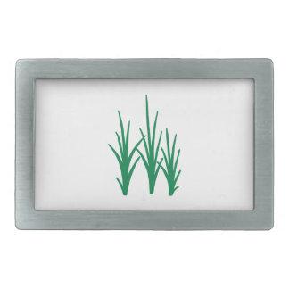 Hierba de lámina verde hebillas cinturón rectangulares