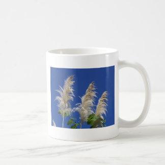 Hierba de pampa en la floración taza clásica