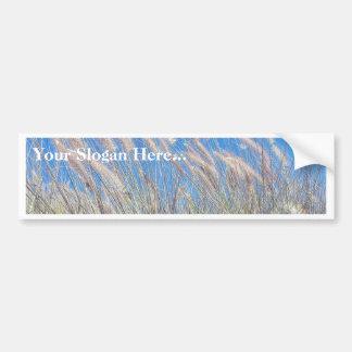 Hierba en el viento etiqueta de parachoque
