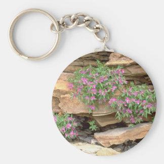 Hierba hojosa rosada del sauce, Territori del noro Llavero Redondo Tipo Pin