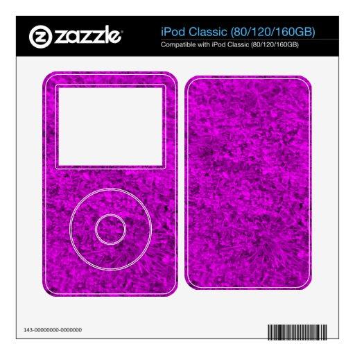Hierba púrpura skins para iPod