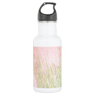 Hierba suave y cielo rosado