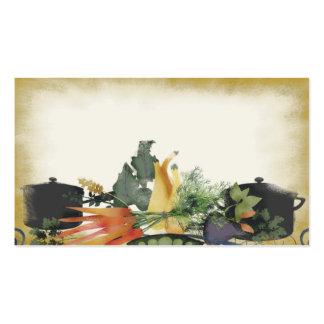hierba vegetal que cocina la tarjeta de visita del