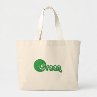 Hierba verde bolsa