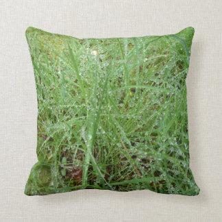 Hierba verde cojín