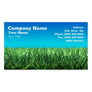 Hierba verde contra el cielo azul claro plantilla de tarjeta personal