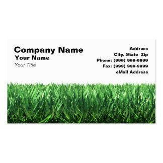 Hierba verde contra el fondo blanco tarjetas de visita