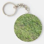 Hierba verde corta llaveros personalizados