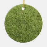 Hierba verde fresca adornos de navidad
