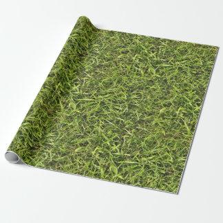 Hierba verde papel de regalo