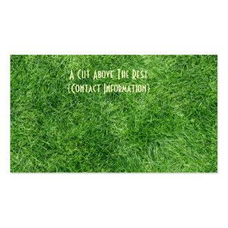 Hierba verde tarjetas de visita