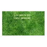 Hierba verde tarjetas personales