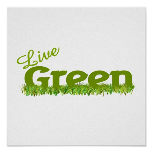 hierba verde viva impresiones