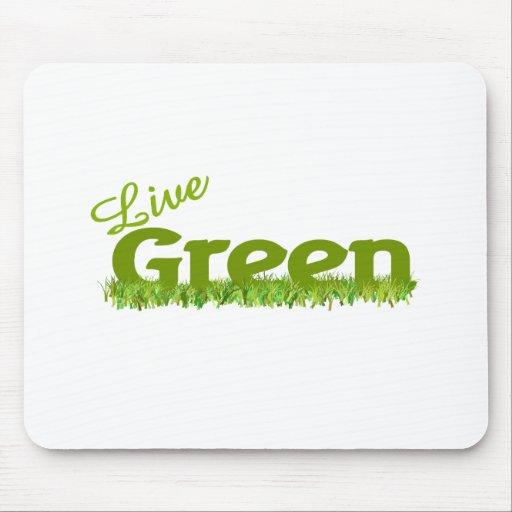 hierba verde viva mousepad