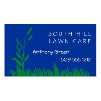 Hierba y mala hierba tarjetas de visita