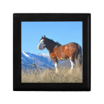 Hierba y montañas del caballo joyero cuadrado pequeño