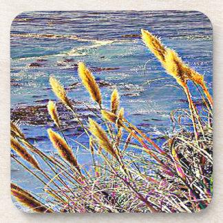 Hierba y ondas de avena posavasos
