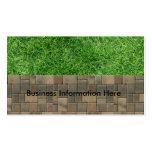 hierba y pavimentadoras tarjetas de visita