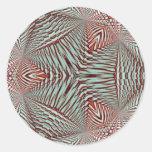Hierbabuena en diciembre de 2012 3D Pegatinas Redondas