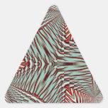 Hierbabuena en diciembre de 2012 3D Calcomanías De Trianguladas