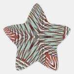 Hierbabuena en diciembre de 2012 3D Calcomanía Forma De Estrella Personalizadas