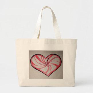 Hierbabuena en forma de corazón bolsa de mano