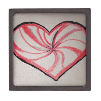 Hierbabuena en forma de corazón caja de joyas de calidad