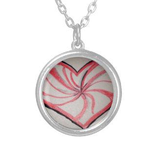 Hierbabuena en forma de corazón collar personalizado