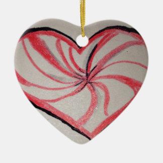 Hierbabuena en forma de corazón ornamentos de reyes magos