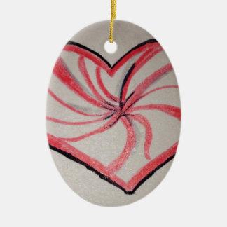 Hierbabuena en forma de corazón ornaments para arbol de navidad