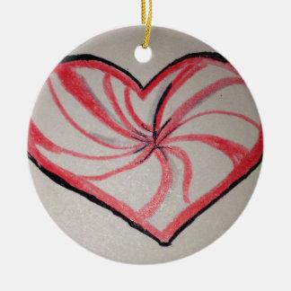Hierbabuena en forma de corazón ornato