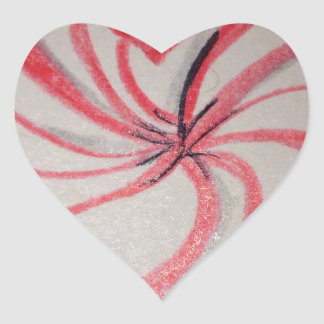 Hierbabuena en forma de corazón calcomania de corazon