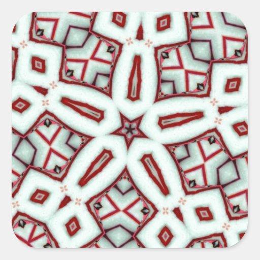 Hierbabuena palillo estrella diciembre de 2012 calcomanía cuadrada personalizada
