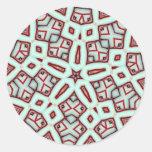Hierbabuena palillo estrella diciembre de 2012 etiquetas redondas