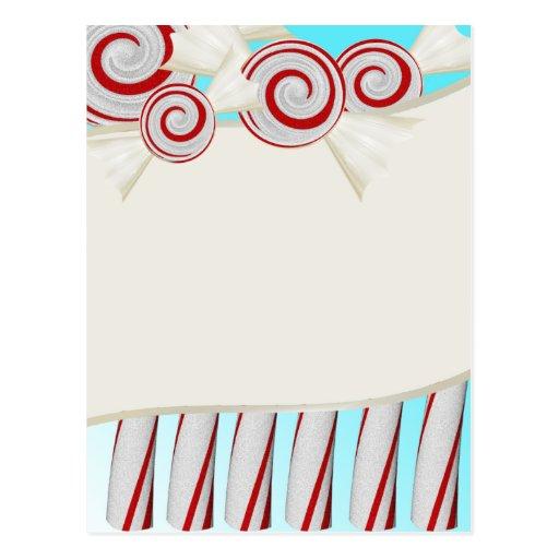 Hierbabuenas y bastones de caramelo postal