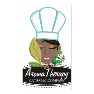 Hierbas afroamericanas bonitas del cocinero de la tarjetas de visita