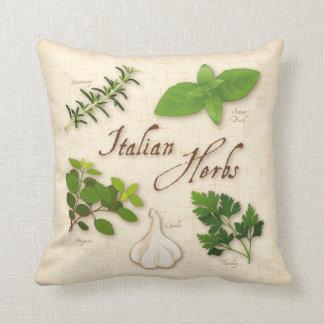 Hierbas italianas, albahaca, orégano, perejil, ajo cojin