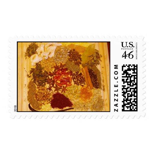 Hierbas y collage de las especias envio