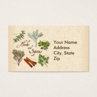 Hierbas y especias, Rosemary, sabio, tomillo, Tarjetas De Visita