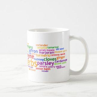Hierbas y especias Wordle Taza De Café