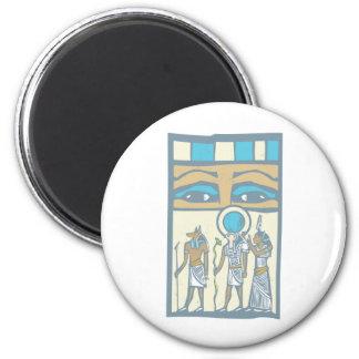 Hieroglyph Eyes 2 Inch Round Magnet