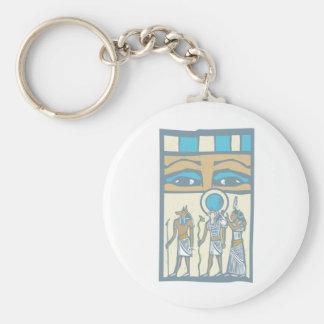 Hieroglyph Eyes Keychain