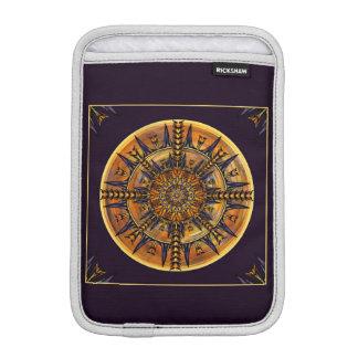Hieroglyph Moth Mandala iPad Mini Sleeve