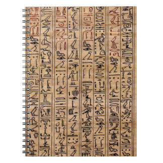 Hieroglyph Note Pad Spiral Note Book