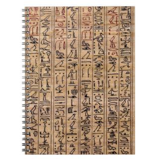 Hieroglyph Note Pad Spiral Notebook