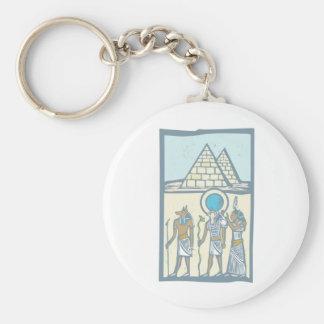 Hieroglyph Pyramids Keychain