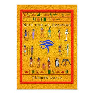 Hieroglyphic Party 5x7 Paper Invitation Card