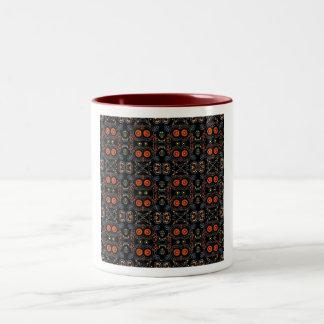 Hieroglyphic Print Two-Tone Coffee Mug