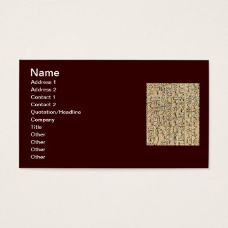 Hieroglyphics Business Card