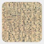 Hieroglyphics Calcomanía Cuadrada